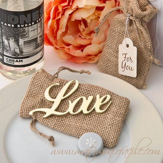APRIBOTTIGLIE LOVE SHABBY CHIC con sacchetto