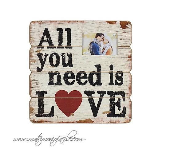 Targa Legno _all you need is love_