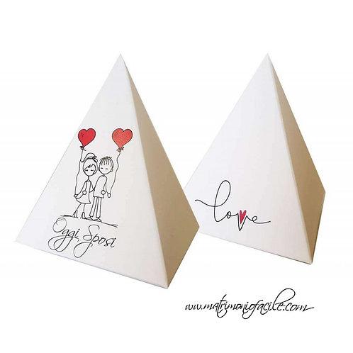 PORTACONFETTI - Piramide Love - OggiSposi