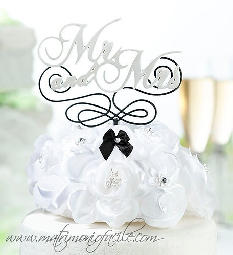 CAKE TOPPER  'Mr and Mrs' torta