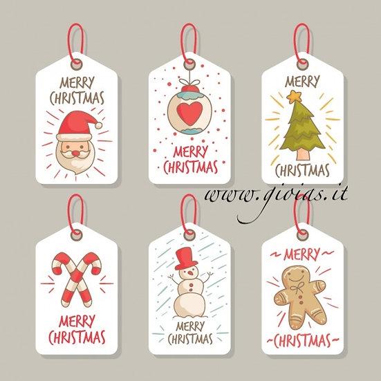 Etichette o Sticker personalizzati Natale