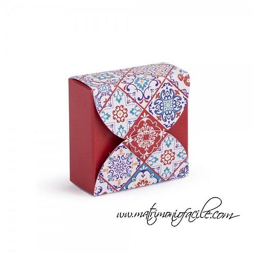 Box portaconfetti rosso Ceramica