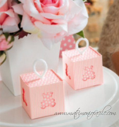 Portaconfetti  Box orsetto rosa