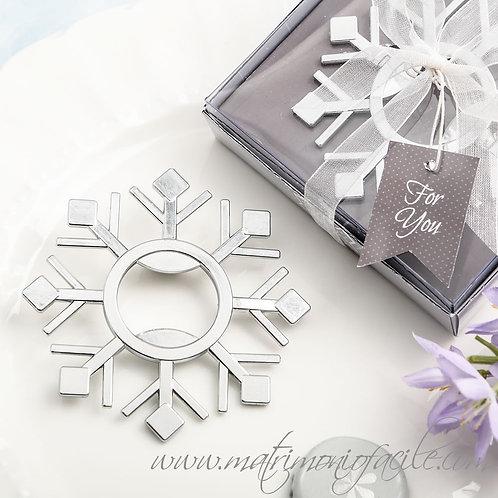 Bomboniera - Apribottiglie fiocco di neve