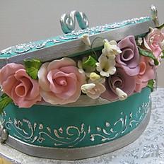 Vintage Flower Box Cake