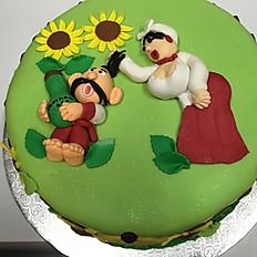 Ukrainian Theme Cake