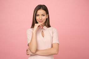 woman-wearing-pink-collared-half-sleeved