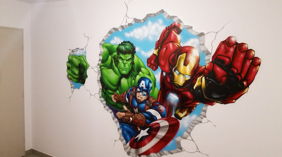décoration Avengers