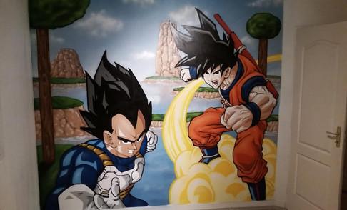 Fresque Dragon Ball Z