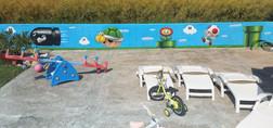 Fresque de jardin Mario