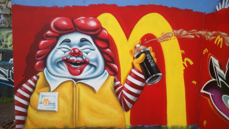 Fresque Mac Donald's