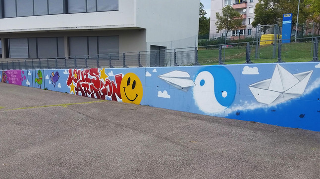 Atelier graffiti au collège Louis Aragon - Villefontaine 38
