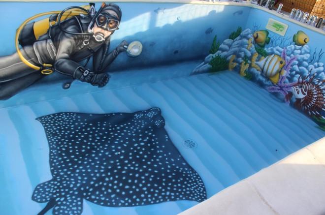 La piscine en fond marin