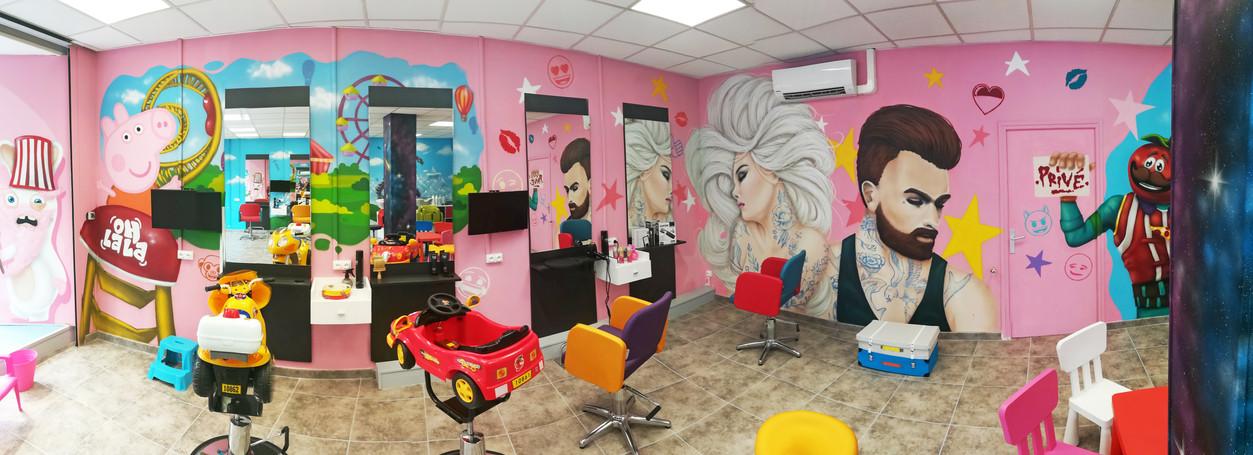 Décoration d'un salon de coiffure