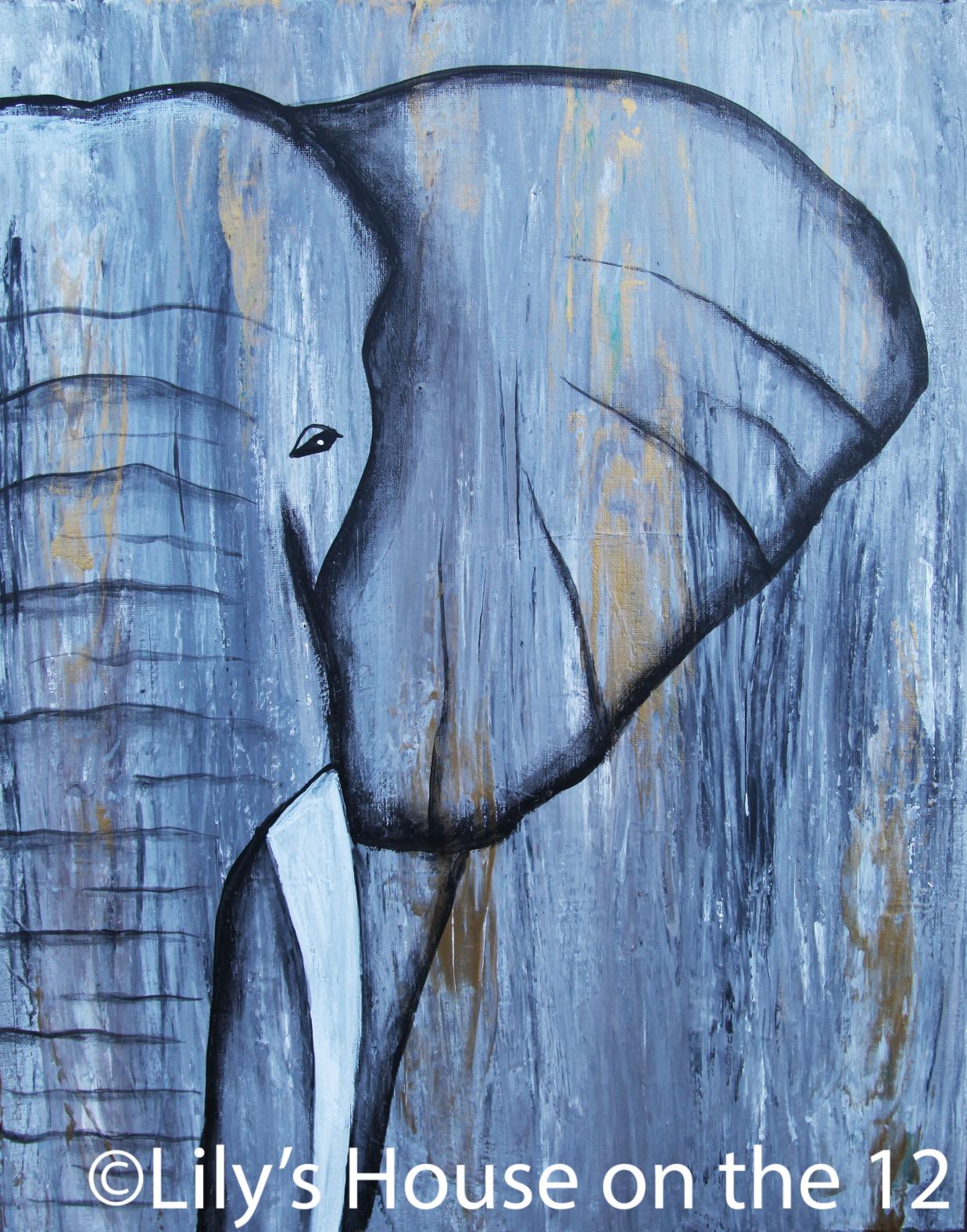 Elephant half face