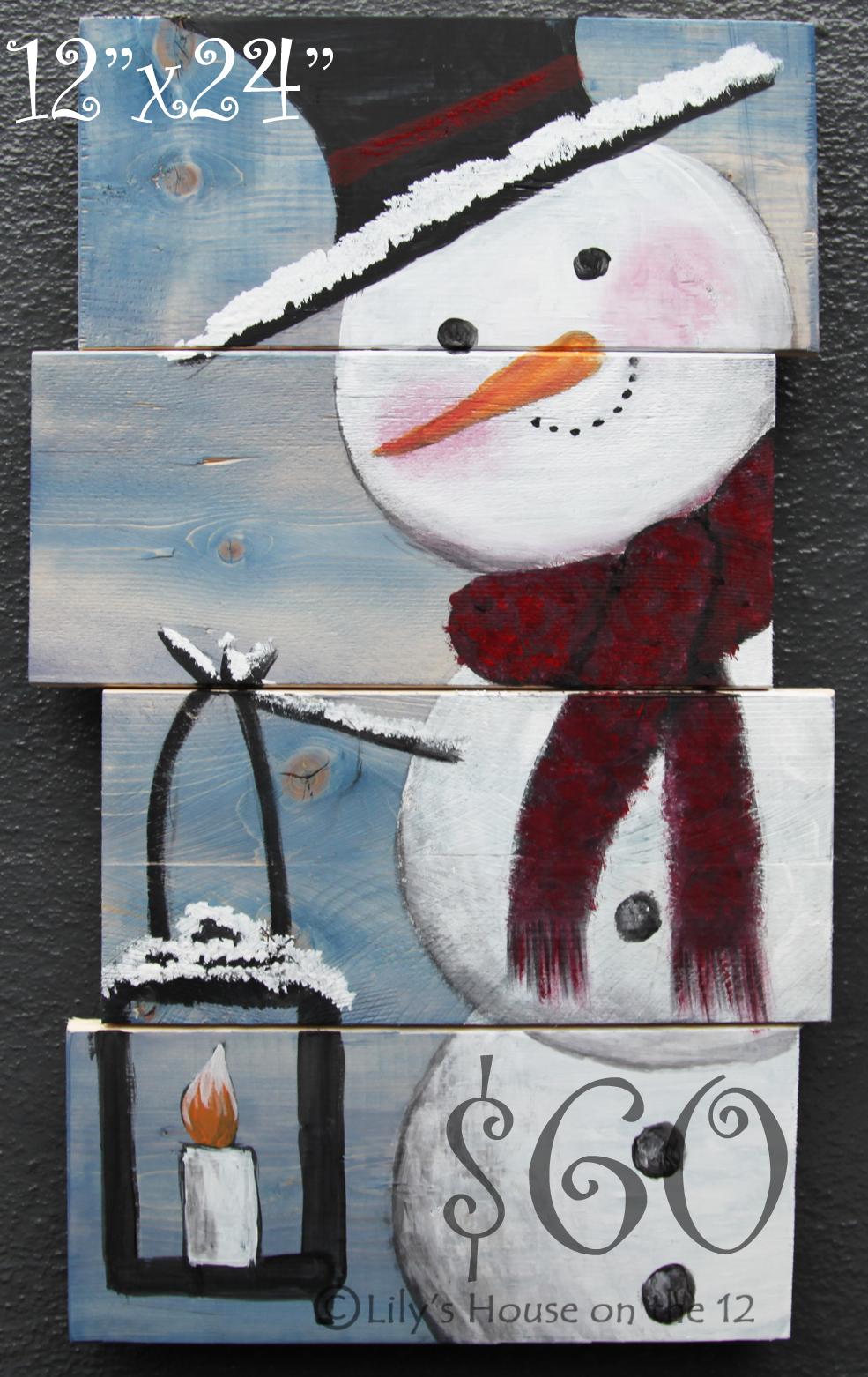 Snowman 12x24