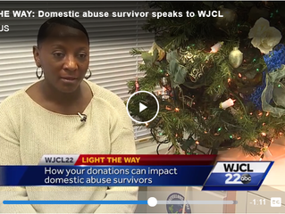 LIGHT THE WAY: Domestic abuse survivor speaks to WJCL