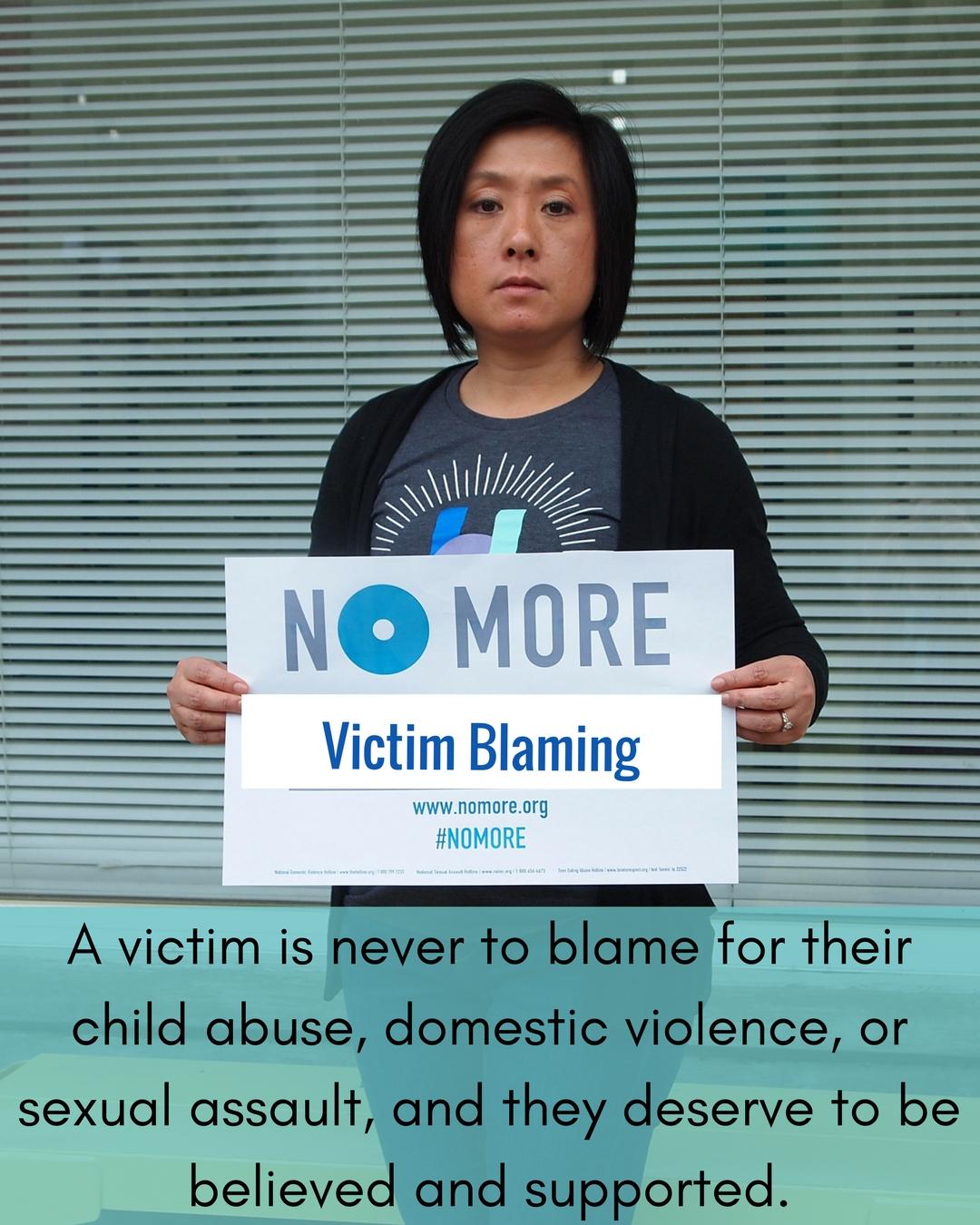 No More Campaign-Victim Blaming