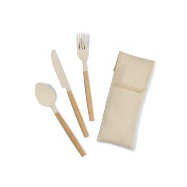 Gaia Bamboo Fiber Cutlery Set