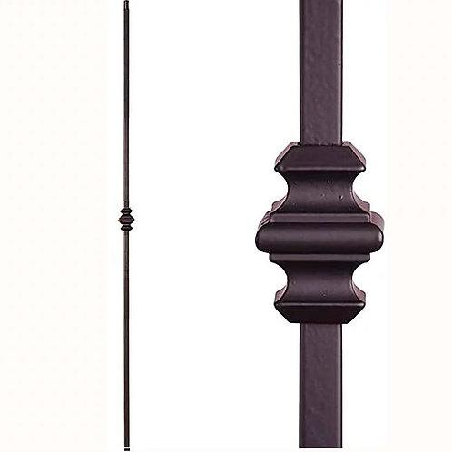A118-Black Straight Single Colar