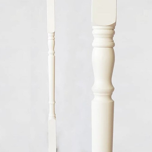 A113-White wooden Spindle