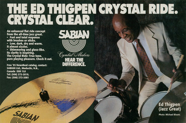 Ed Thigpen - Sabian Cymbals