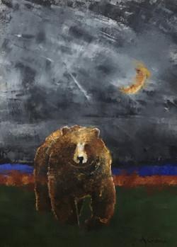 Moonlit-Bear_12x16_Oil-Cold-Wax