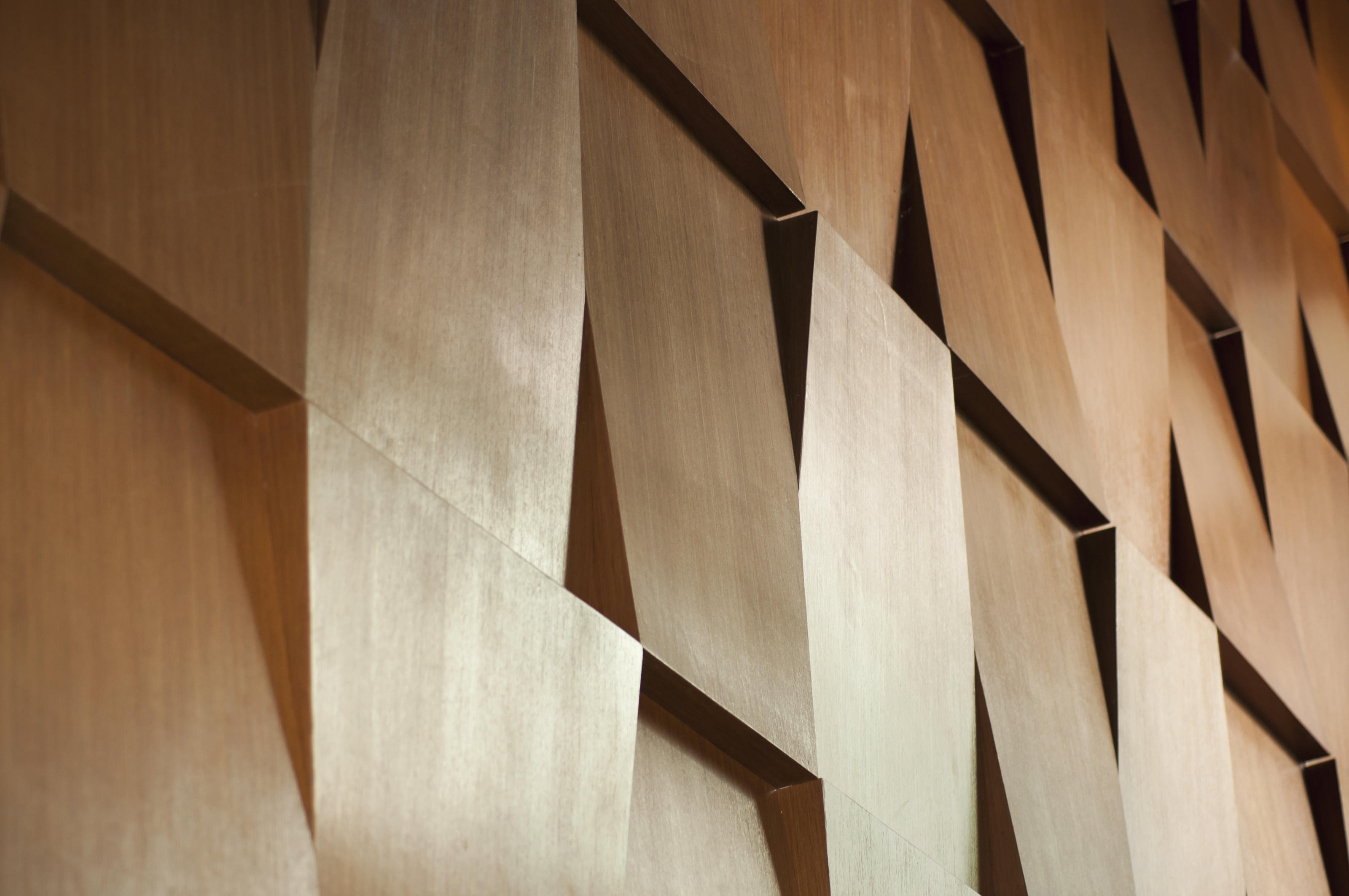 Wood wall geometry decoration background