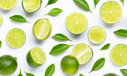 limes-with-leaves-isolated-white-backgro