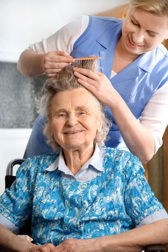 Volunteer hair cut