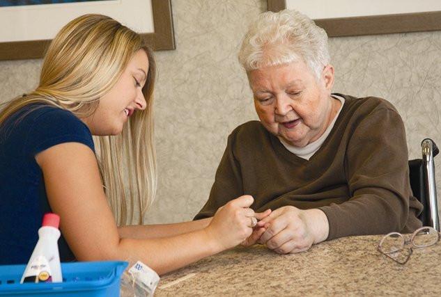 Volunteer manicure