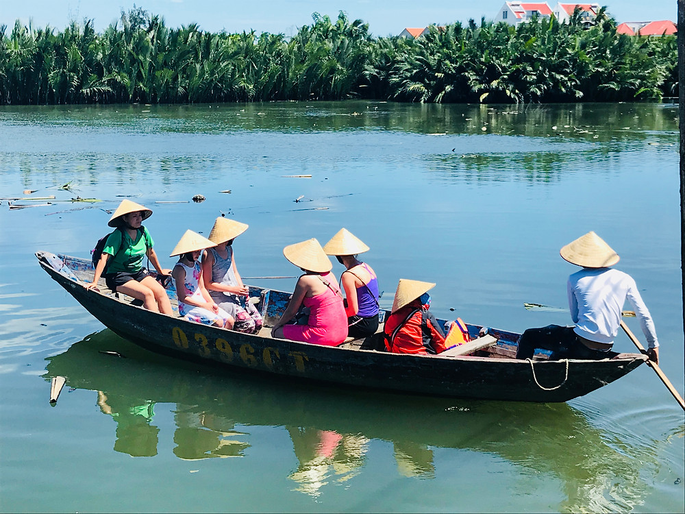 Small boat transport to the Island Cooking School, Hoi An, Vietnam
