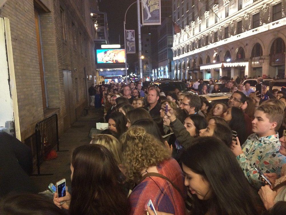 After the Tony nominations came out, the Hamilton stage door was the place to be.