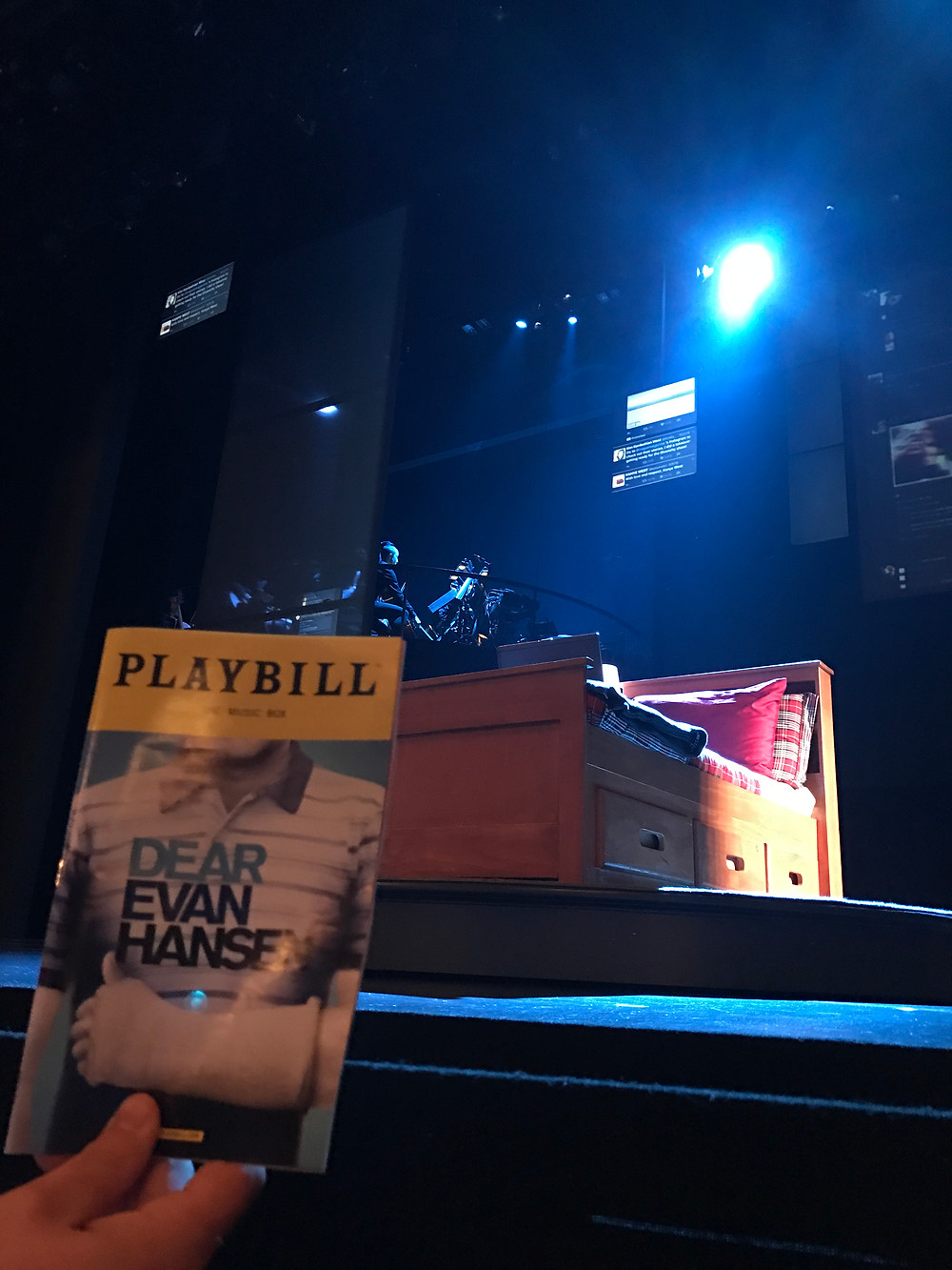We had the good fortune (and hustle) to see both Dear Evan Hansen and Hamilton, with their original casts from the front row!