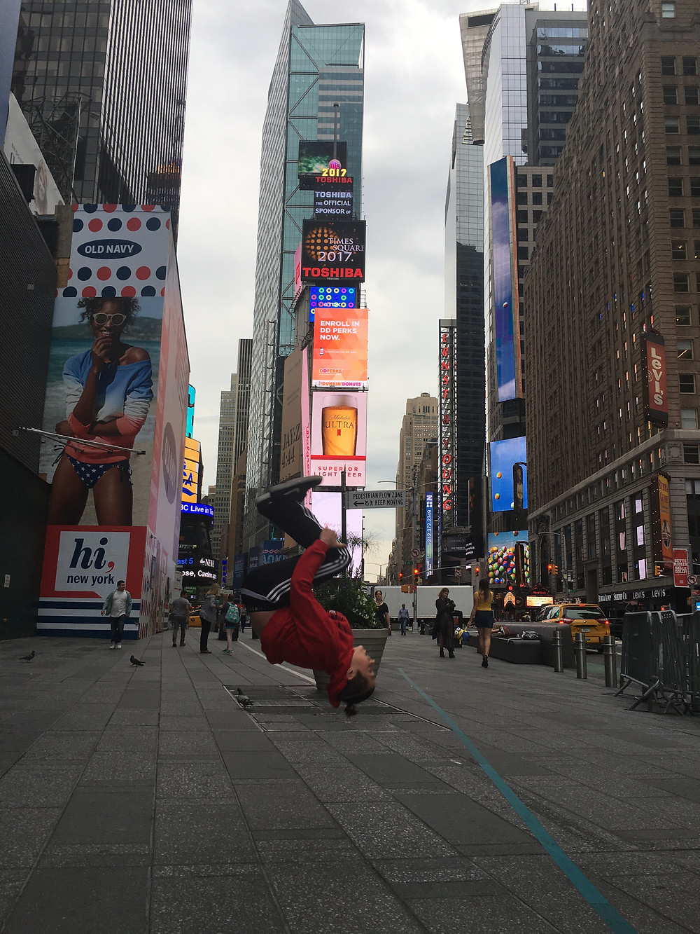 After 5 am, when this photo was taken,  TImes Square is a zoo!