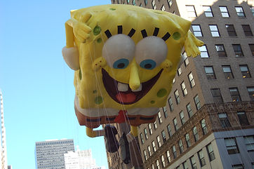 Macy's Macys Thansgivin Day parade kids travel family families spongebob squarepants