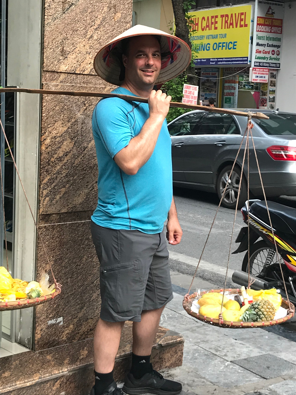 Newest local fruit seller at his pop-up shop