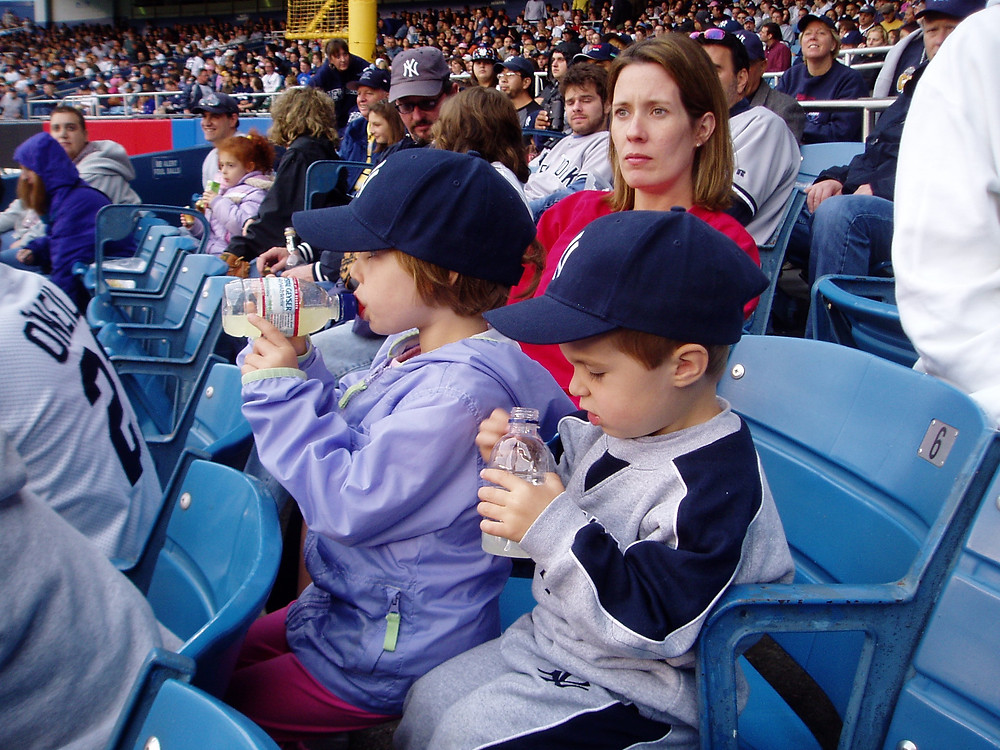 Expect to see about 1 inning and make about 10 trips to the concourse if you take you 2-3 year olds to sporting events.