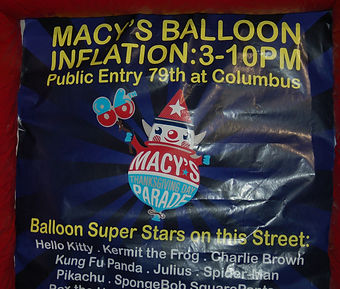 Macy's Macys Thansgivin Day parade kids travel family families balloon inflation inflate