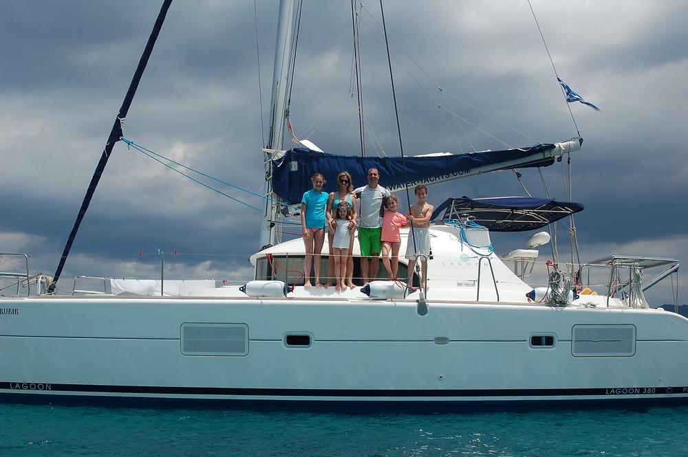 On our 38' catamaran we sailed through the Greek Isles