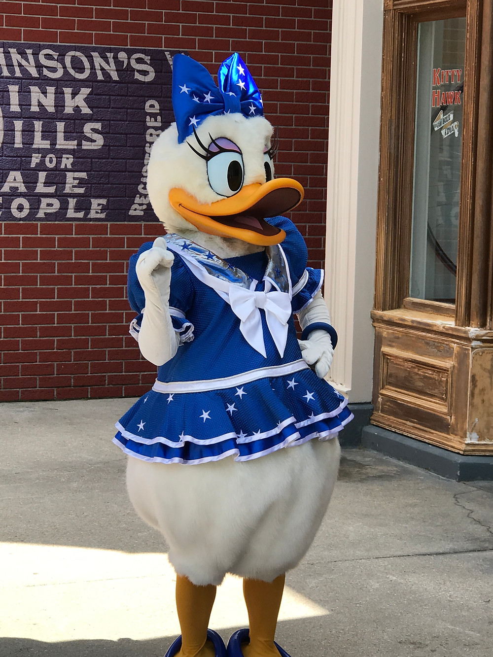 Daisy in her 25th anniversary outfit