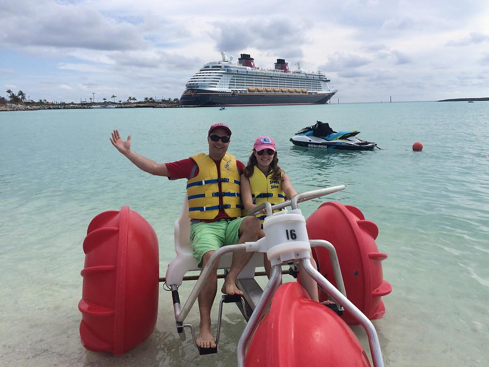 On Castaway Cay, Disney's private island, via a Disney Dream cruise