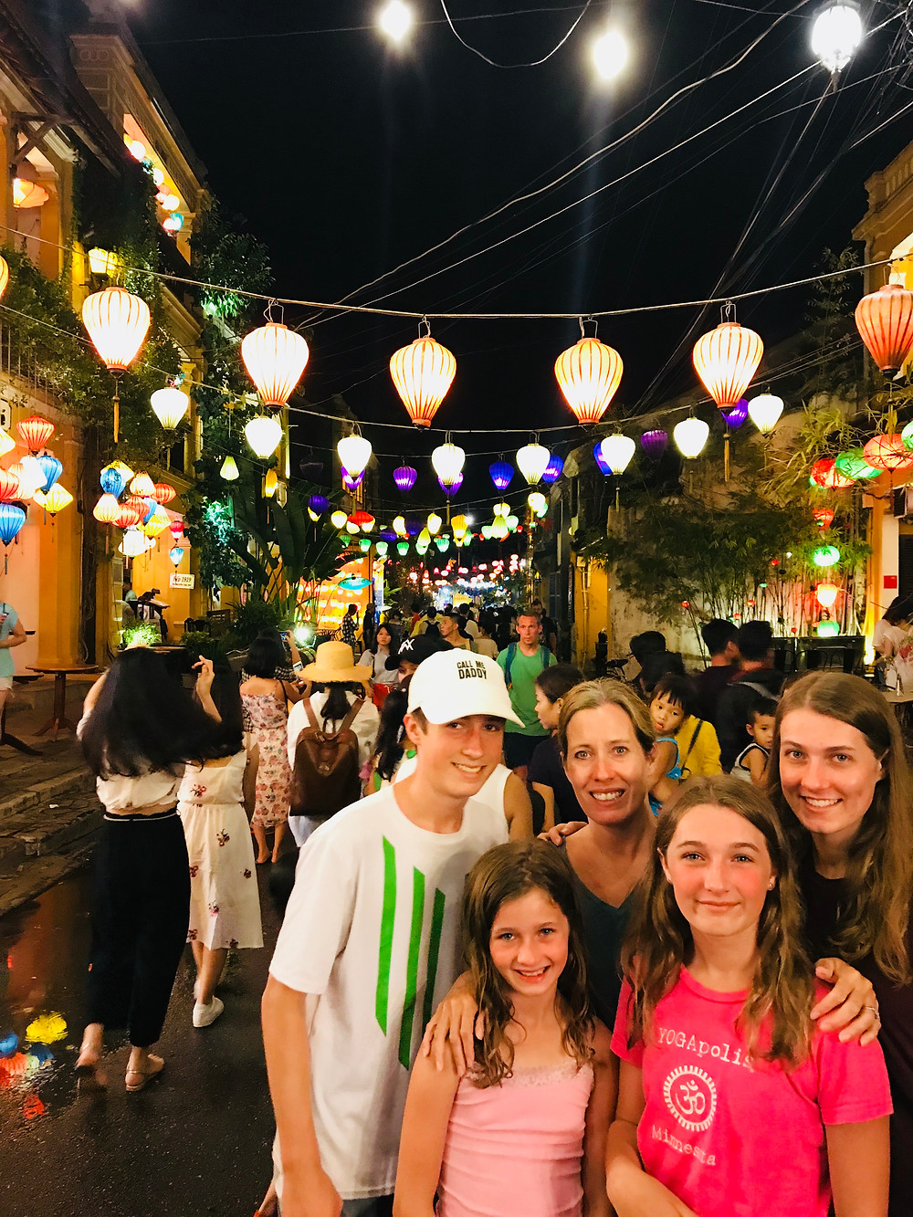 Hoi An, Vietnam, lit up by lanterns at night