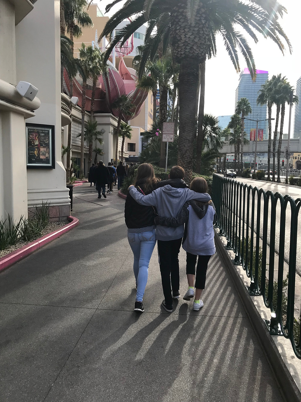 The Strip, Las Vegas on our family vacation