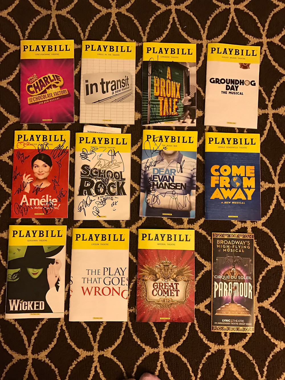 This was one, good trip to Broadway!