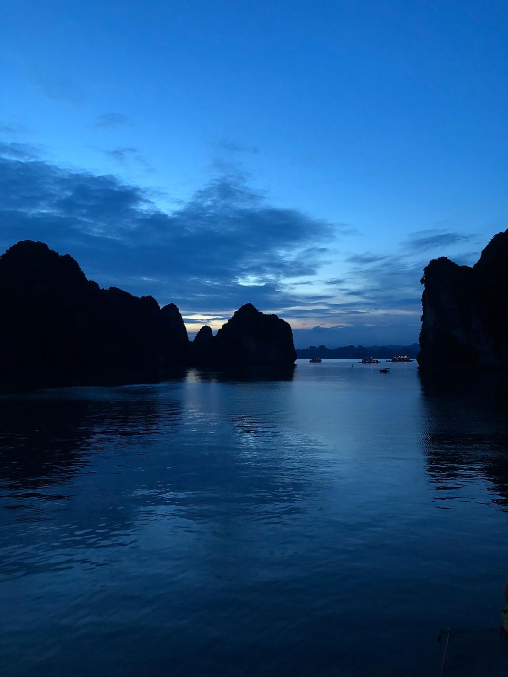 Sunset in Halong Bay Vietnam