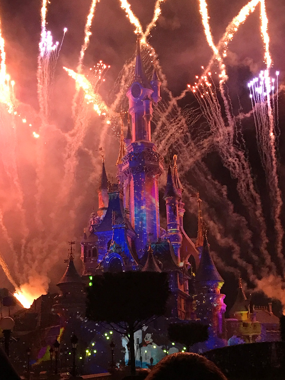 The nighttime show was spectacular