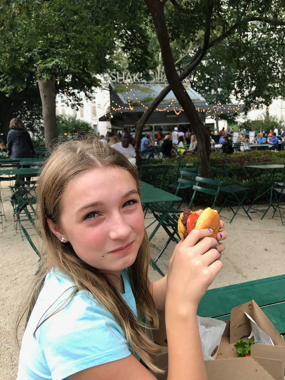 This is the original Shake Shack location in Madison Square Park. A great summer stop. There are several Shake Shacks throughout NYC. We most frequently visit the one in midtown on 8th.