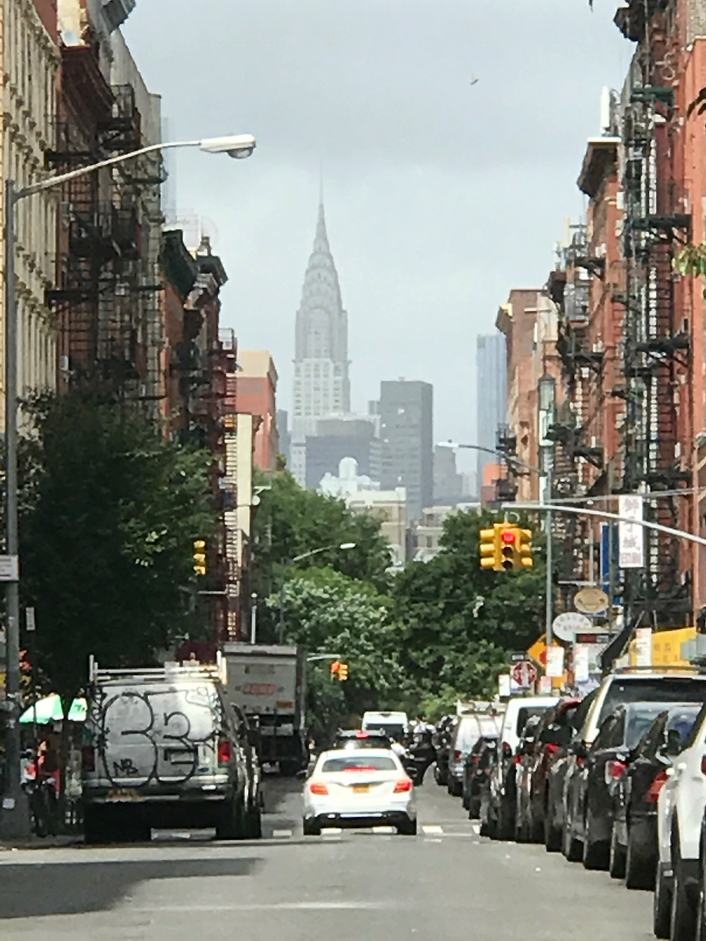 View of the Chrystler Building from the Lower East Side, New York, New York