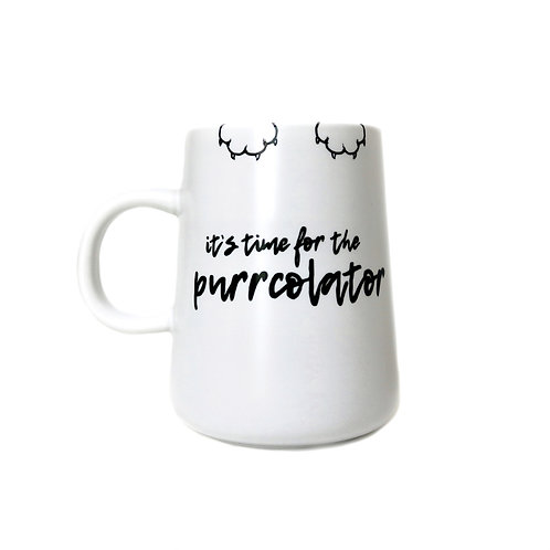 purrcolator coffee mug